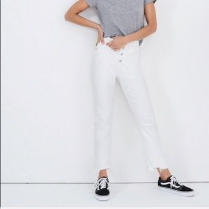 Madewell Petite Perfect Vintage White Jeans NWT
